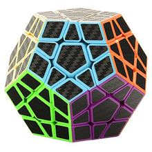 MIPOZOR Megamin Magic Cube Haip Carbon Fiber Sticker Megamin Speed Cube Puzzle Cube Stress cube Tri spinner Brain Teaser(China)