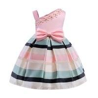 Girl Dress Bow Stripes Stripe Princess Dress Of Girls Baby Girl Formal Dresses Girl Party Dress