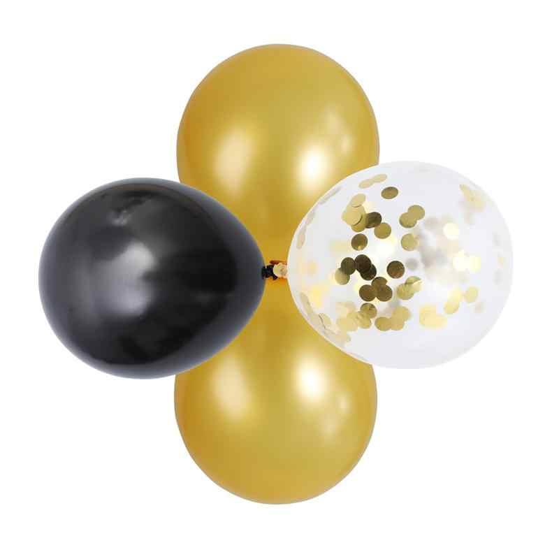 BESTOYARD 60 ชิ้น/เซ็ต 12 นิ้วลูกโป่ง 25 ชิ้นสีดำ + 25 ทองบอลลูน + 10 ชิ้นบอลลูน Confetti สำหรับปาร์ตี้ผู้ผลิต