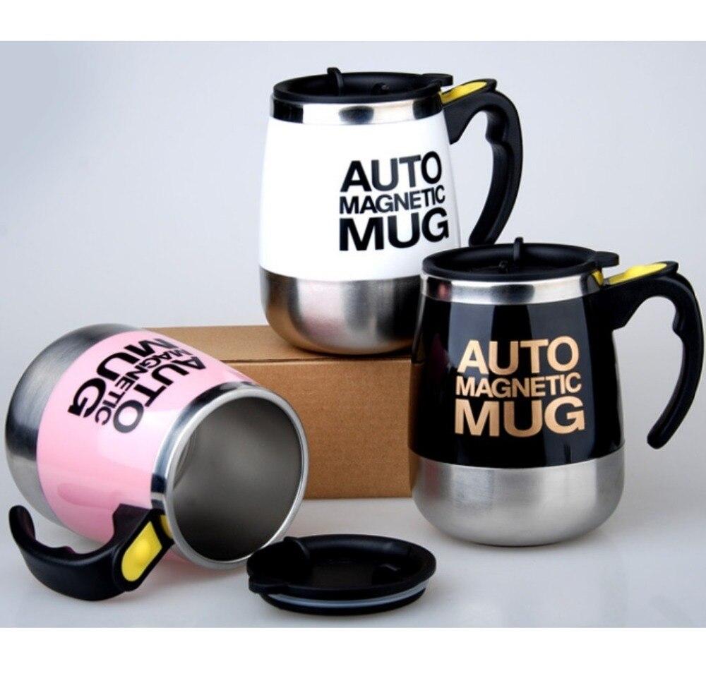 Авто Магнитная кружка кофе с молоком чашки смеси 304 кружка из нержавеющей стали Творческий электрический ленивый кружка-мешалка