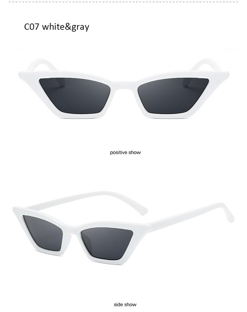 eff1a04e7cb2 New Clear Lens Small Cat Eye Sunglasses Women Fashion Brand Cute Red ...