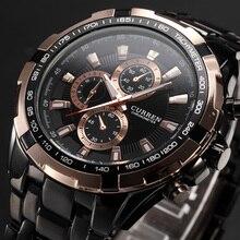 2018 CURREN Tag бренд для мужчин модные спортивные мужские Аналоговые часы's повседневное кварцевые мужские часы Полный нержавеющая сталь Военная Униформа наручные часы