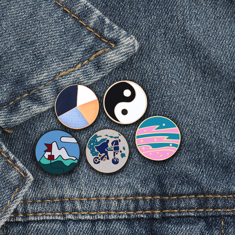 Badges Home & Garden Symbol Of The Brand 1 Pcs Vintage Phonograph Metal Badge Brooch Button Pins Denim Jacket Pin Jewelry Decoration Badge For Clothes Lapel Pins