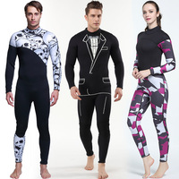3mm Neoprene man Siamese diving suit surf wear long sleeved pants personalized wetsuit diving suit male Free diving suit