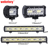 Weketory 4 7 20 23 Inch 3 Rows LED Bar LED Work Bar Light For Tractor