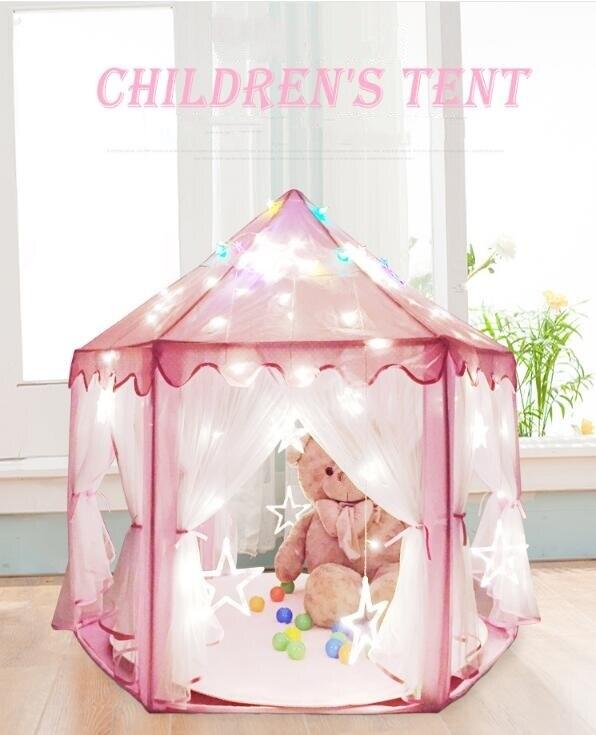 Rose/bleu/vert Portable princesse château tente enfants activité fée maison drôle intérieur extérieur Playhouse bébé plage tente jouet