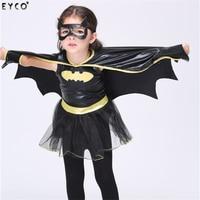 Richarm Batman Set Kids Halloween Cosplay Children Costume Gift Cartoon Superhero Half Face Mask Christmas