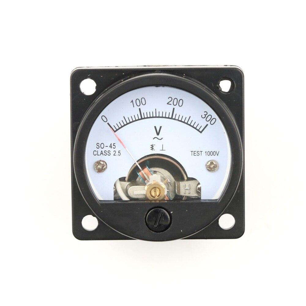 SO-45 AC 0-300V Round Circular AC Voltmeter Pointer Voltmeter Analog Dial Panel.