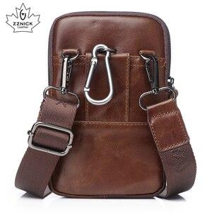 Image 4 - Hakiki Deri Bel Paketleri Paketi bel çantası Çanta Telefon kılıflı çanta Seyahat Bel Paketi Erkek Bel erkek çanta Moda Flep