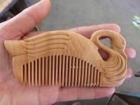 100% puur natuurlijke wilde zeldzame cederhout carving De gans care kam