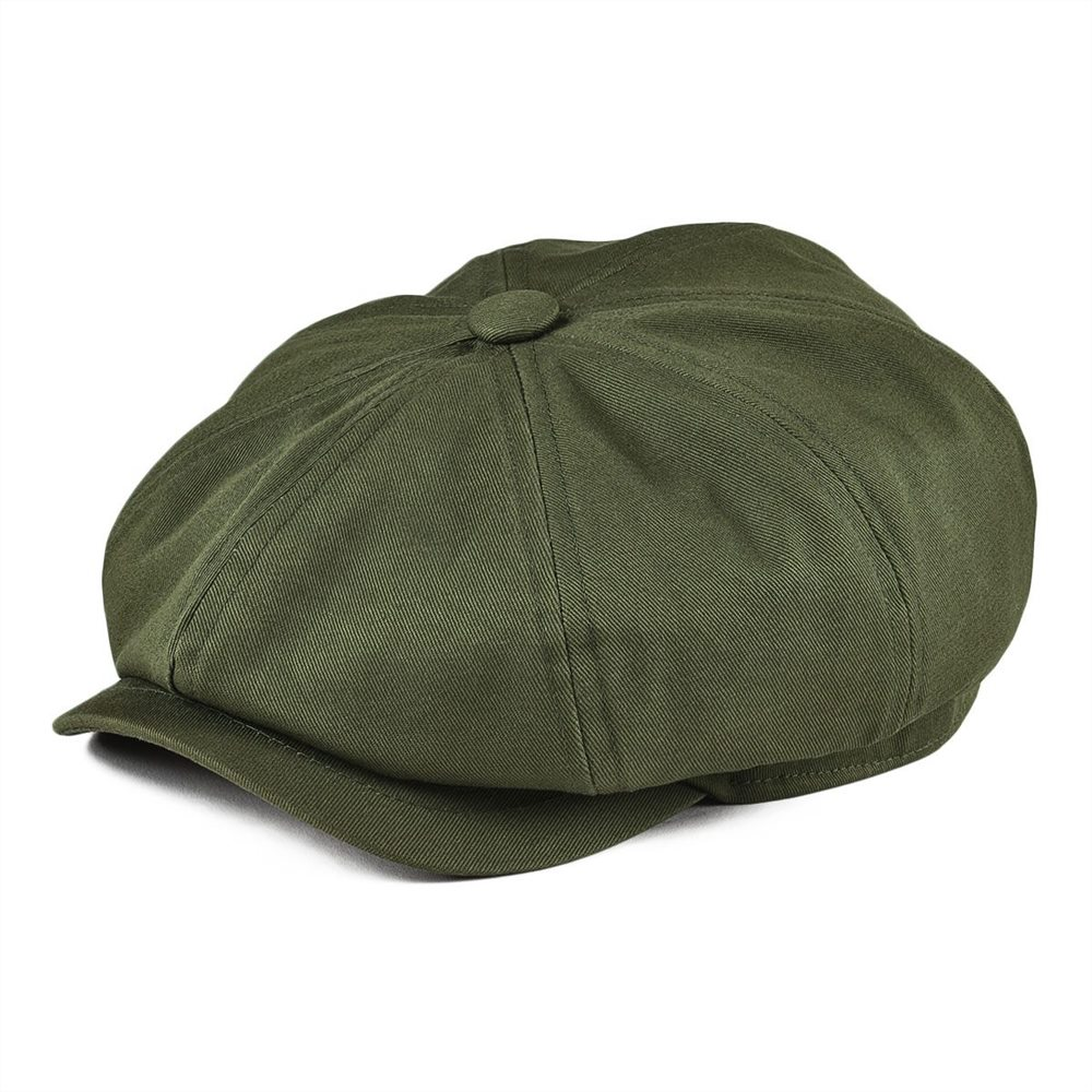 BOTVELA Newsboy Cap Men's Twill Cotton Eight Panel Hat Women's Baker Boy Caps Retro Big Large Hats Male Boina Green Beret 003