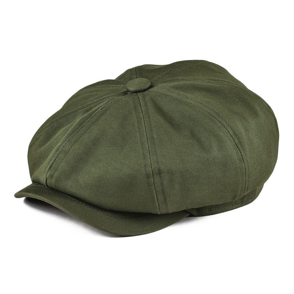 BOTVELA Newsboy Cap Men's Twill Cotton Eight Panel Hat Women's Baker Boy Caps Retro Big Large Hats Male Boina Green Beret 003