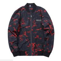 2018 Camouflage Casual Jacket Men Fashion Men Jacket Coat Pocket Button Bomber Red Green Male Jackets Military US Size M XXXL