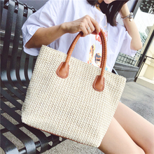 2018 New Arrivel Famous Designer Ladies Woven Knitting Tote Bags Summer Bohemian Women High Quality Straw Beach Shoulder Bag