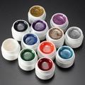 12 Bottle Mix Colors Nail Art Glitter UV Gel Builder Polish Set for Acrylic Nails Art Decorations Random Send Pro Nail Beauty