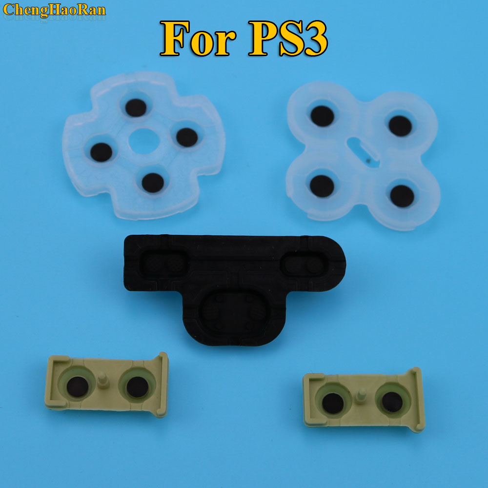 1000sets by DHL For ps3 Controller conductive rubber for Playstation 3 Soft Rubber Silicon Conductive Button Pad Replacement-in Replacement Parts & Accessories from Consumer Electronics