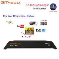 Freesat V8 PRO2 Combo Satellite Receiver With Free 1 Year Europe 5 Clines Cccam Server Support DVB S2+T2/C Biss Key pk v8 golden