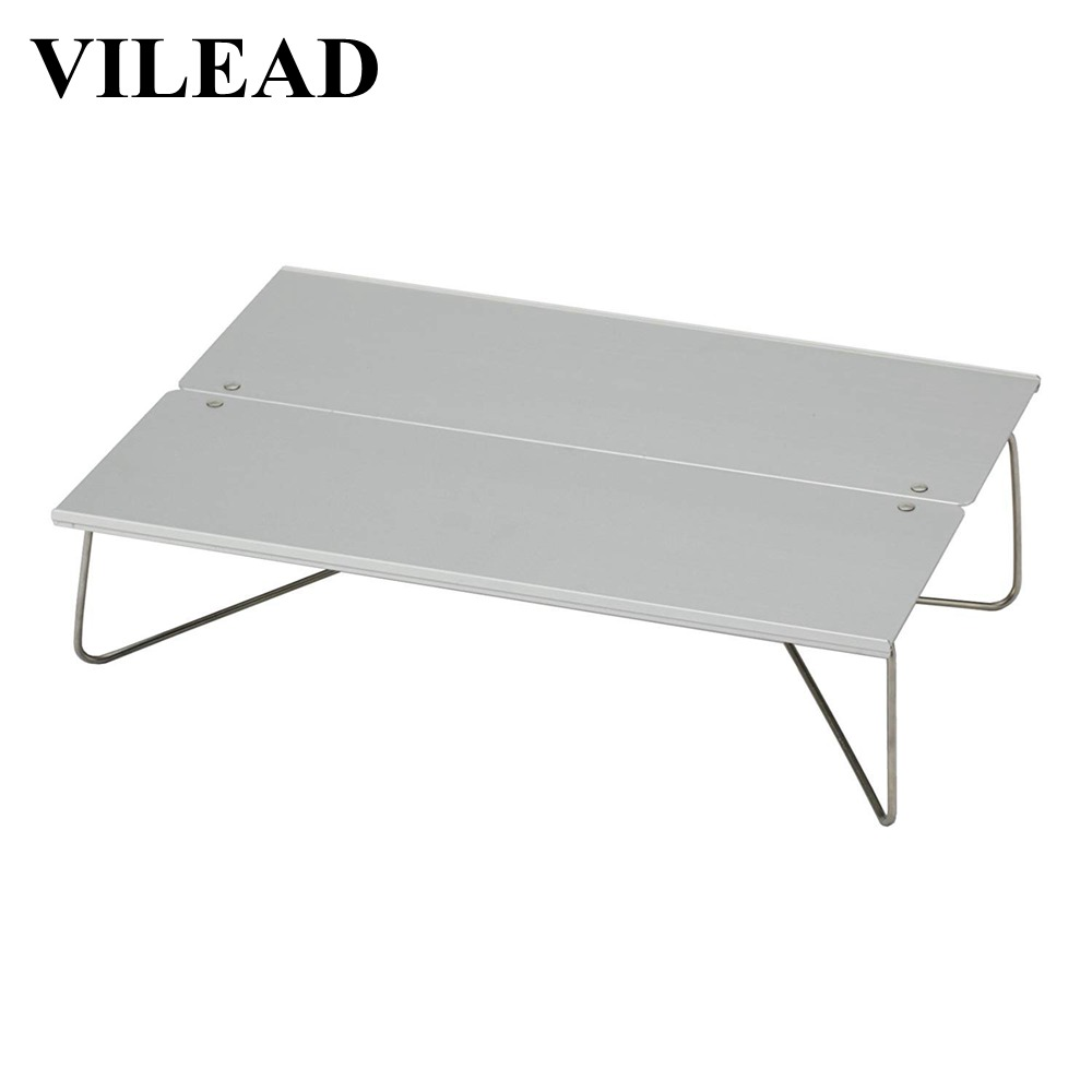 Vilead New 30*21*7.8 Cm Folding Camping Table Portable Beach Hiking Picnic Travel Aluminum Mini Ultralight Waterproof Foldable