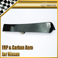 Car Accessories For Nissan S14 Dmax Style Carbon Fiber Roof Spoiler (Might need work to fit) Glossy Fibre DM Rear Window Wing