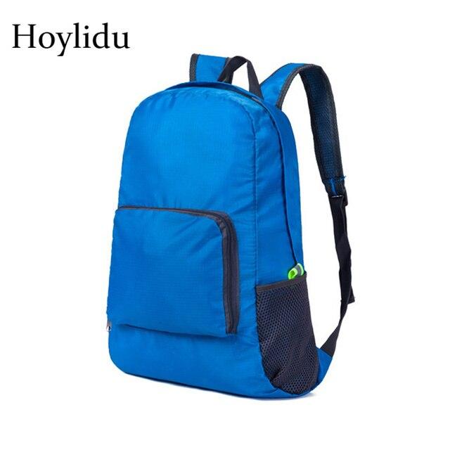 Dobrável Mochila de Viagem para Homens e Mulheres À Prova D' Água Nylon Bagpack Ultraleve Grande Capacidade Bolsas de Ombro Adolescente Leve