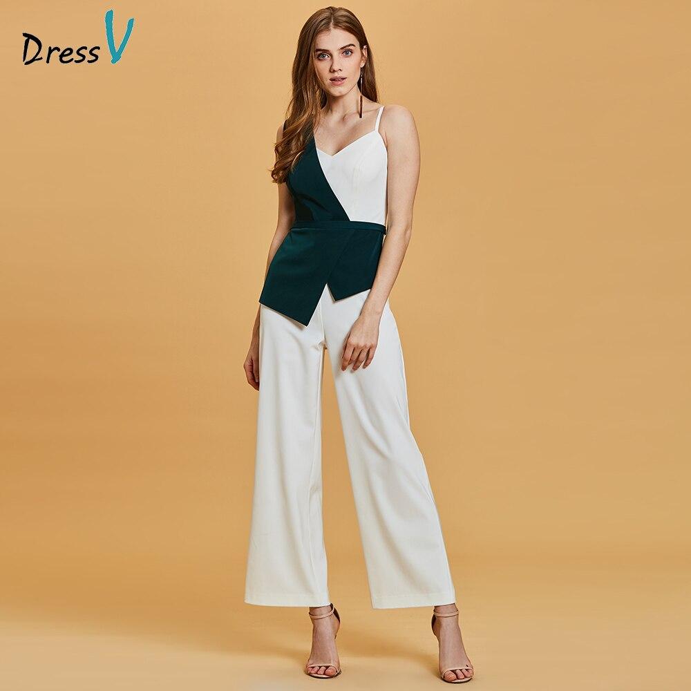Dressv green long   evening     dress   cheap one shoulder sheath jumpsuit sleeveless wedding party formal   dress     evening     dresses