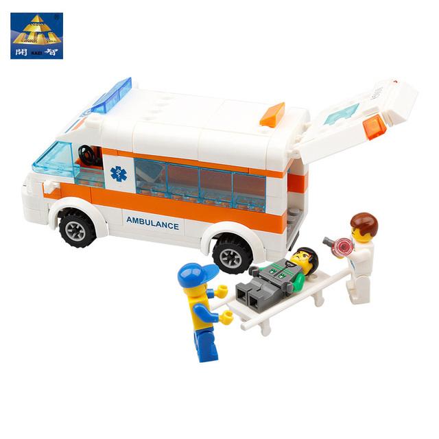 Kazi Technics Brand Designer Enlighten Blocks DIY Educational Toys For Kids Rescue Center Maritime Search And Rescue Team