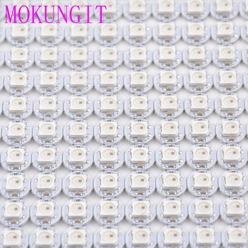 цена на 10-1000pcs SK6812 WS2812B 5050 RGB LED & PCB Board 1-LED Addressable Module Pixel Light 5V mini PCB board (10mm*3mm) Heatsink
