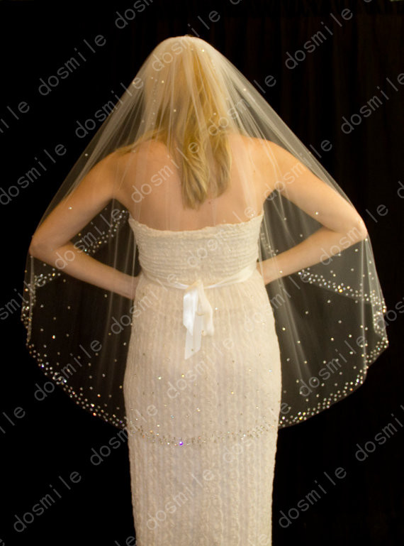Pics For > Wedding Veils With Bling