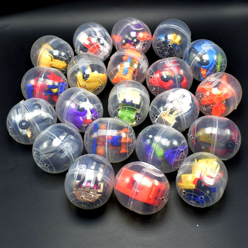 12Pcs/lot Mini Transformation Robot car Model Deformation Cars with transparent surprise Egg box Transform action Figures Toy viruses cell transformation and cancer 5
