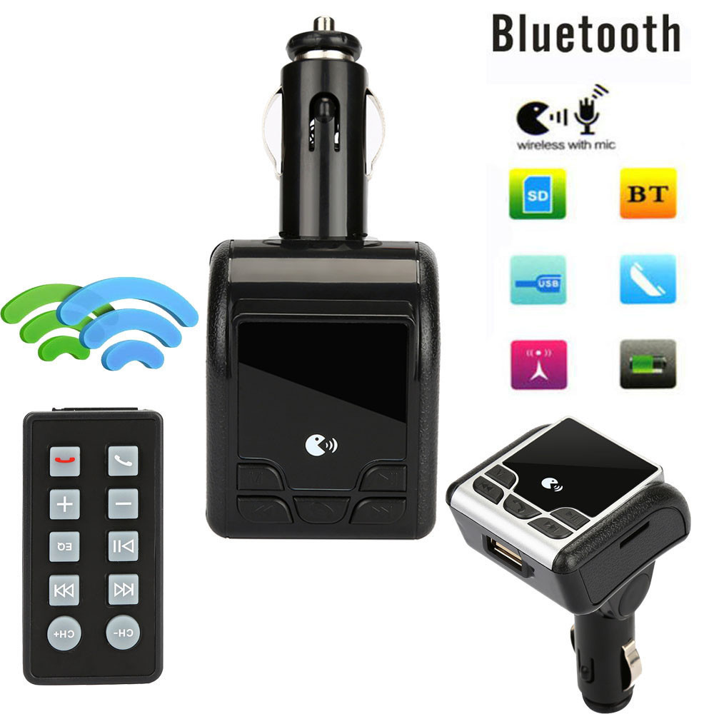 High quality Car Bluetooth Wireless FM Transmitter AUX Radio Adapter MP3 Handsfree Call Kit Remote 5V ABS