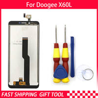 New original Touch Screen LCD Display LCD Screen For DOOGEE X60L Replacement Parts + Disassemble Tool+3M Adhesive