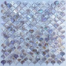 25 мм натуральный красочный секторная раковина мозаичная плитка кухня щитки обои Ванная комната фон душ декоративные настенные плитки
