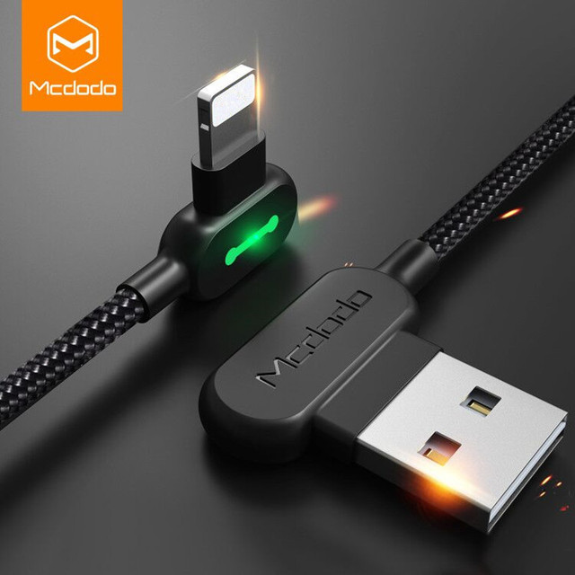Mcdodo For iPhone USB Cable For iPhone X 7 Plus Auto Disconnect Fast Charging Data Cable For iPhone X 8 6s LED USB Cable Cord 5