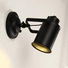 Retro Iron House Lighting Fixtures  Loft Wall Lamp E27 110V / 220V Led Lights For Bedroom Nordic Lighting Light For Mirror