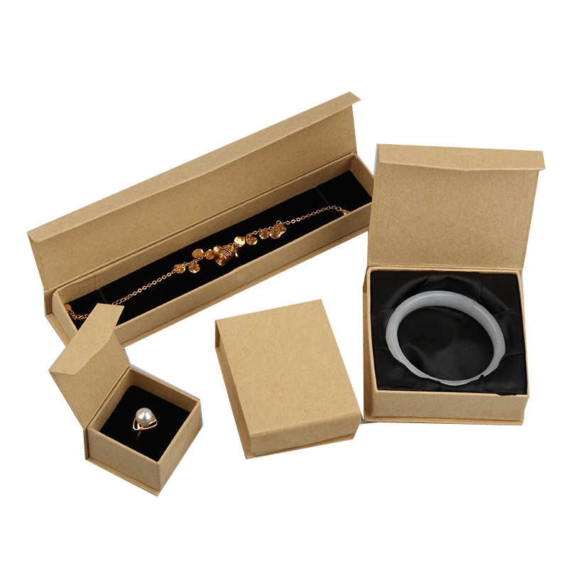 Kraft paper box for ring necklace packaging wholesale for Big box jewelry stores