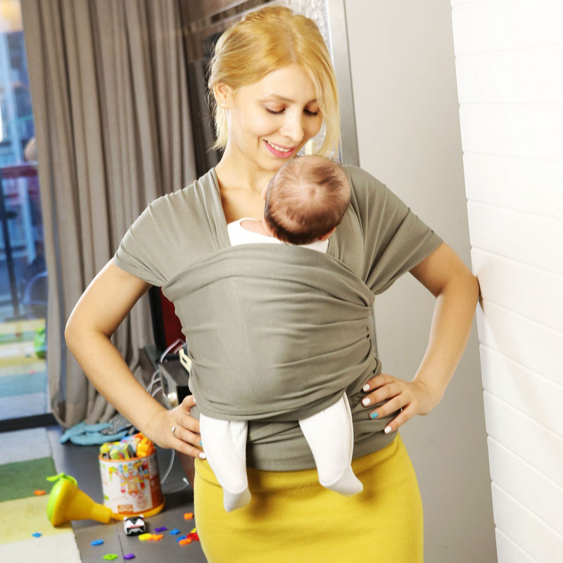Baby Wrap Carrier All In 1 Stretchy Baby Sling Infant Carrier Hands