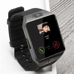 BAGGEE ساعة ذكية بلوتوث دعم SIM TF بطاقة ساعة اليد ل أندرويد و IOS الهاتف كاميرا عداد الخطى PK DZ09 GT08 الرجال أو النساء