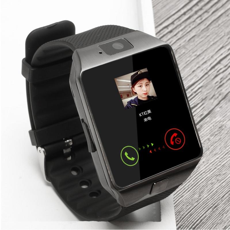Android और IOS फोन कैमरा Pedometer PK DZ09 GT02 पुरुषों या महिलाओं के लिए BAGGEE ब्लूटूथ स्मार्ट घड़ी समर्थन सिम TF कार्ड कलाई घड़ी