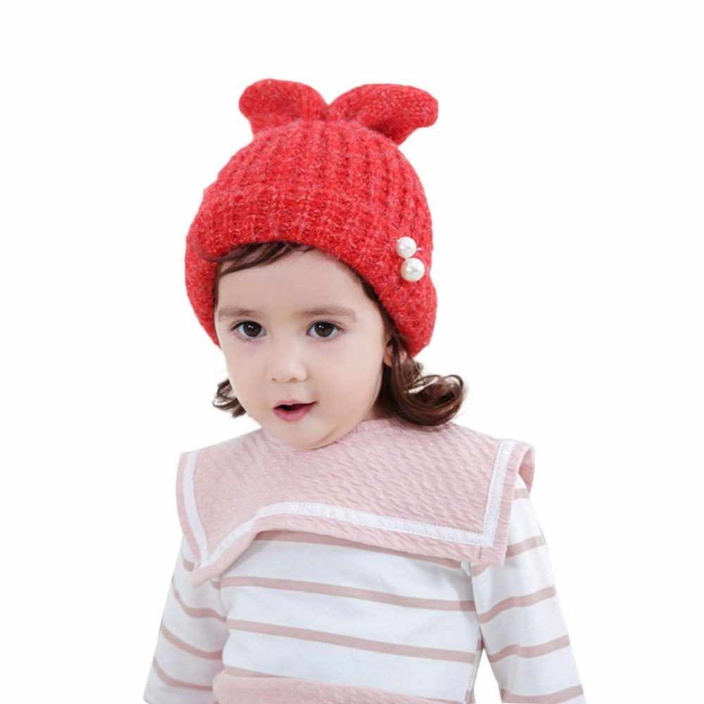 Winter Hats For Children Kids Boys Rabbit Ear Baby Beanie Cap Soft Crochet Hat Childrens Baby Hat Caps