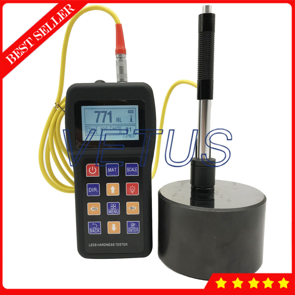 VTS 180 Portable Metal Leeb Hardness Tester With 170 to 960 HLD Measuring Range Digital Durometer