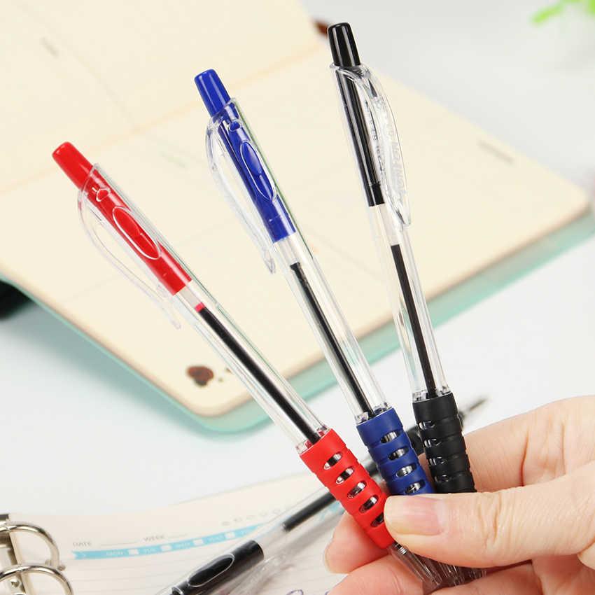 青インクの色ボールペン 0.7 ミリメートルローラーボール古典的なオフィスのペン文具学用品 Canetas アブラソコムツ