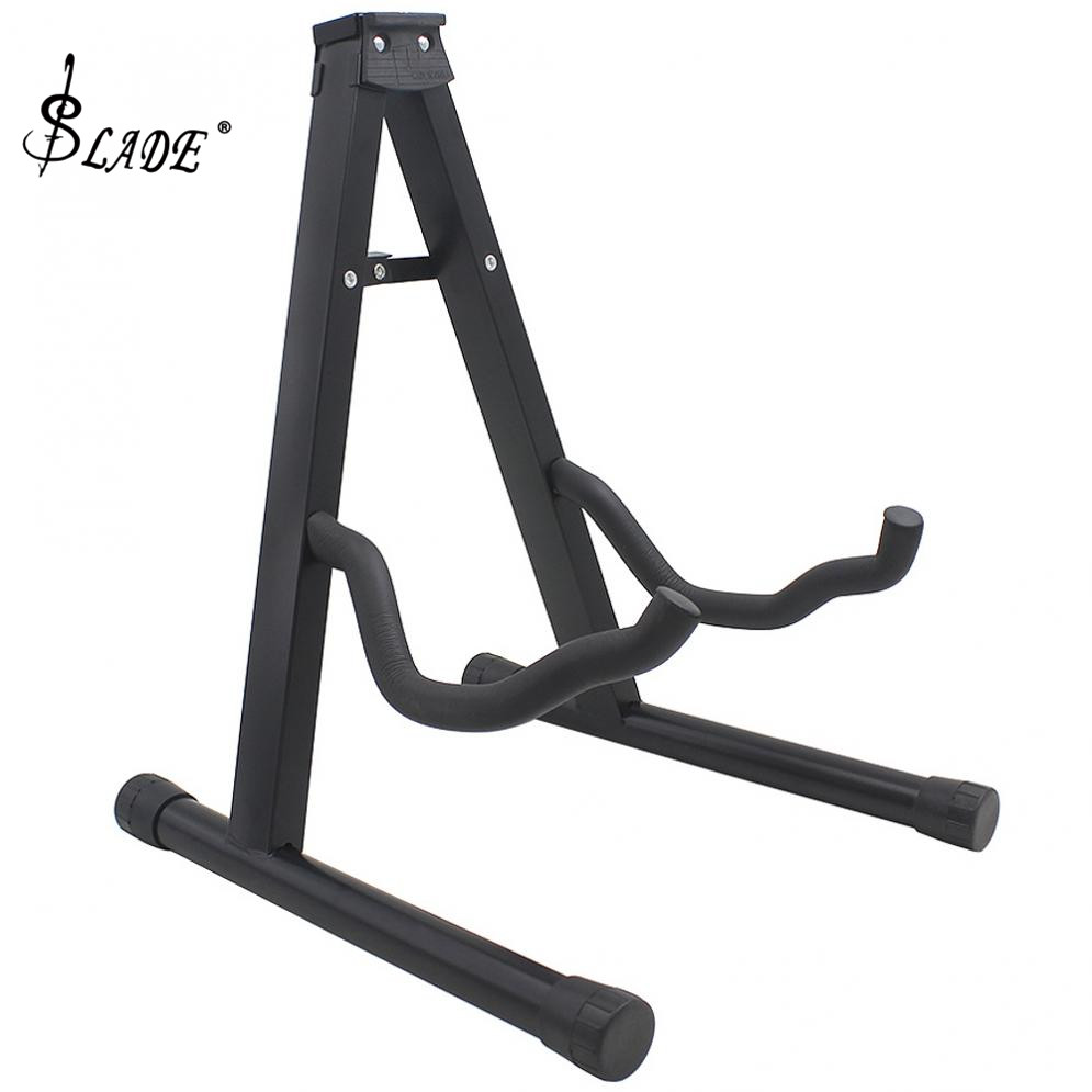 Aluminum Alloy Folding Tripod Black Guitar Stand String Instruments Holder For Guitar Bass Ukulele Violin Cello