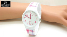 Willis Plaid stripes Design Boy Girls Kids and Student Women Dress Waterproof Quartz Watch