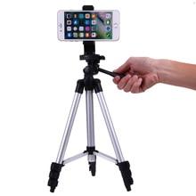 Портативный штатив смартфон для камеры цифровая подставка для DSLR камеры с держателем для мобильного телефона для iPhone X 7 6 S 6 Plus 5s