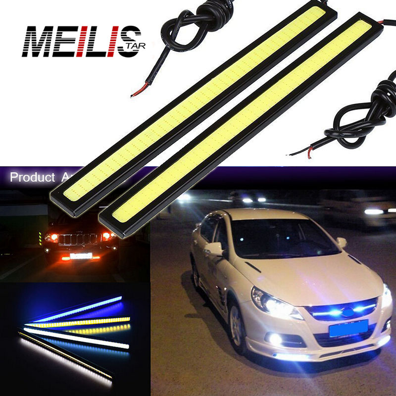 2pcs lots Ultra Bright 17cm Car styling Daytime Running light 100% Waterproof COB Day time Lights LED Car DRL Driving lamp