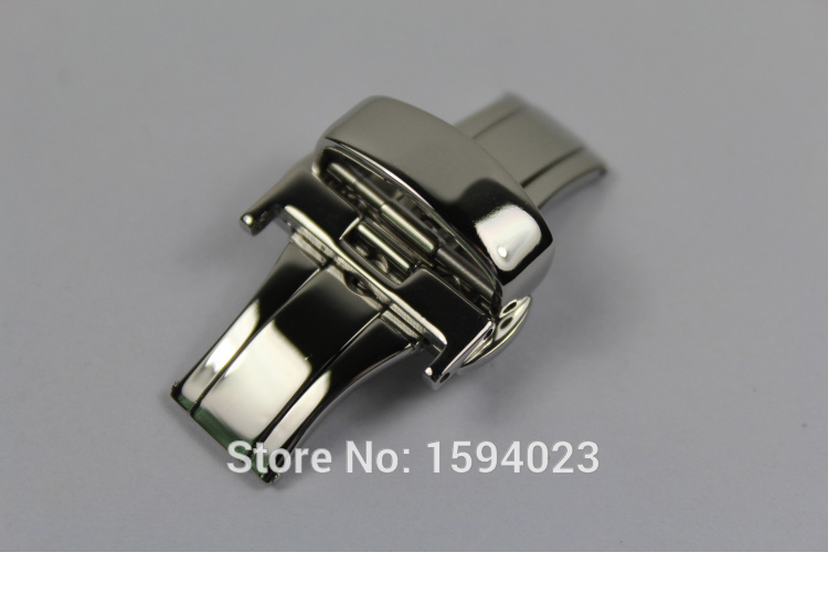 18mm solid stainless steel Silver watch band bcukle Double Push Button Fold Butterfly Deployment clasp For T044 T461 T059 free shipping new butterfly deployment watch bands double push button fold strap buckle clasp
