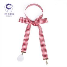 HanCheng New Fashion Cloth Tie Petal Pearl Pendant Plaid Ribbon Choker Necklace Women Necklaces Knitting collar jewelry bijoux(China)