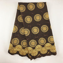 Tela de encaje francés africano de alta calidad tejido de encaje suizo de gasa con piedras, telas de encaje de tul para boda 2019