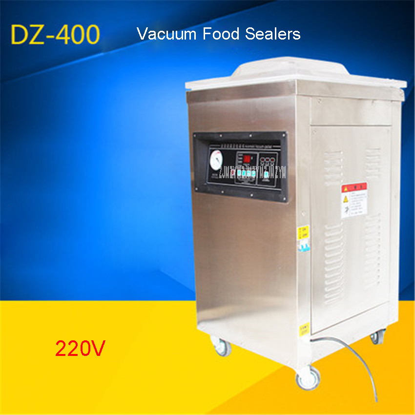 Scelleur sous vide de thé de riz de nourriture de DZ400-2D, chambre de vide de Machine à emballer sous vide, sacs en aluminium Machine de cachetage sous vide 220 V/50 hz