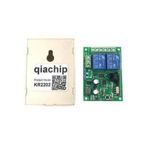 Image 5 - QIACHIP 433 Mhz Universel Sans Fil Commutateur de Commande À Distance AC 250 V 110 V 220 V 2CH Relais Récepteur Module + RF 433 Mhz Télécommandes